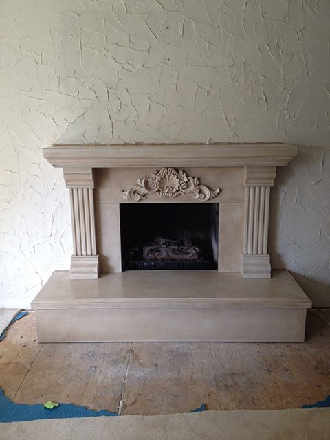 Arnie Fireplace after