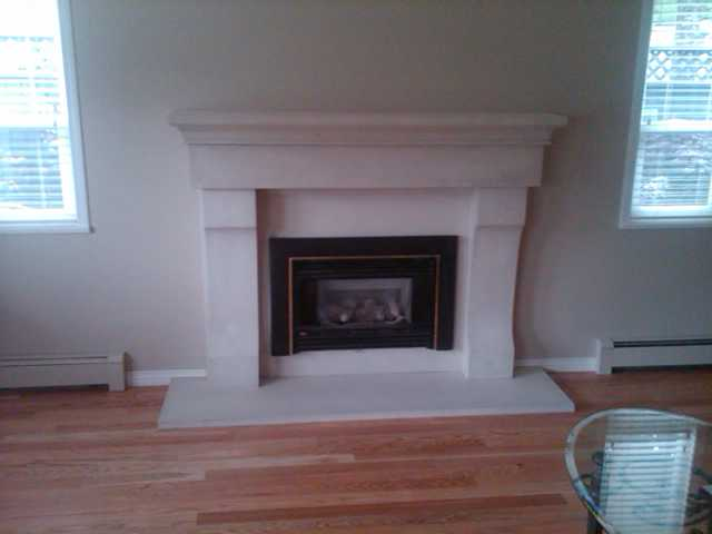 Baker fireplace after