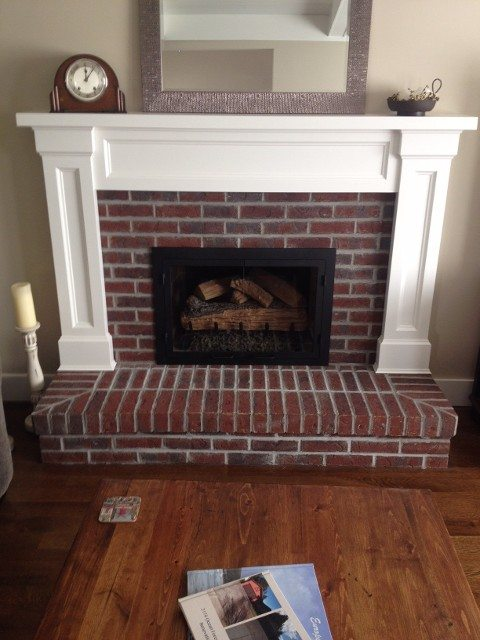 South Surrey fireplace after