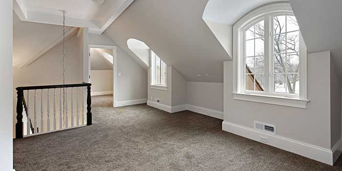 Large attic space converted to living space